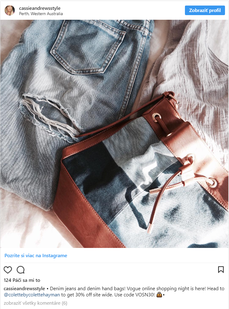 Kupóny na Instagrame