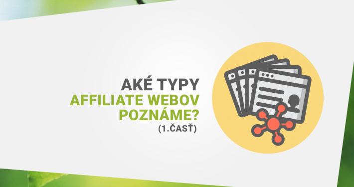 Typy affiliate webov