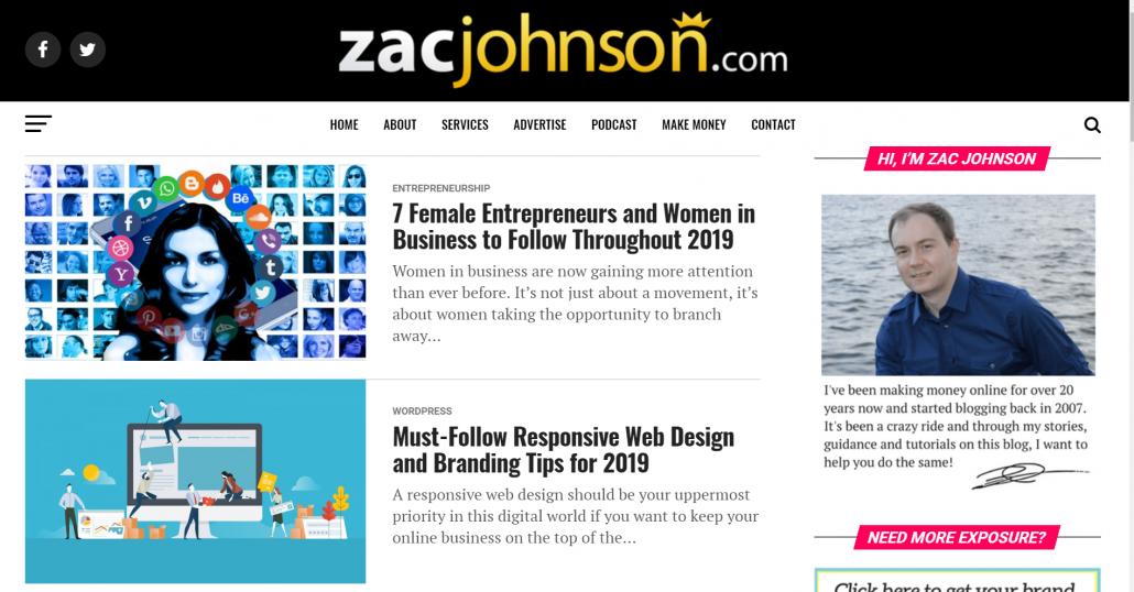 affiliate blog